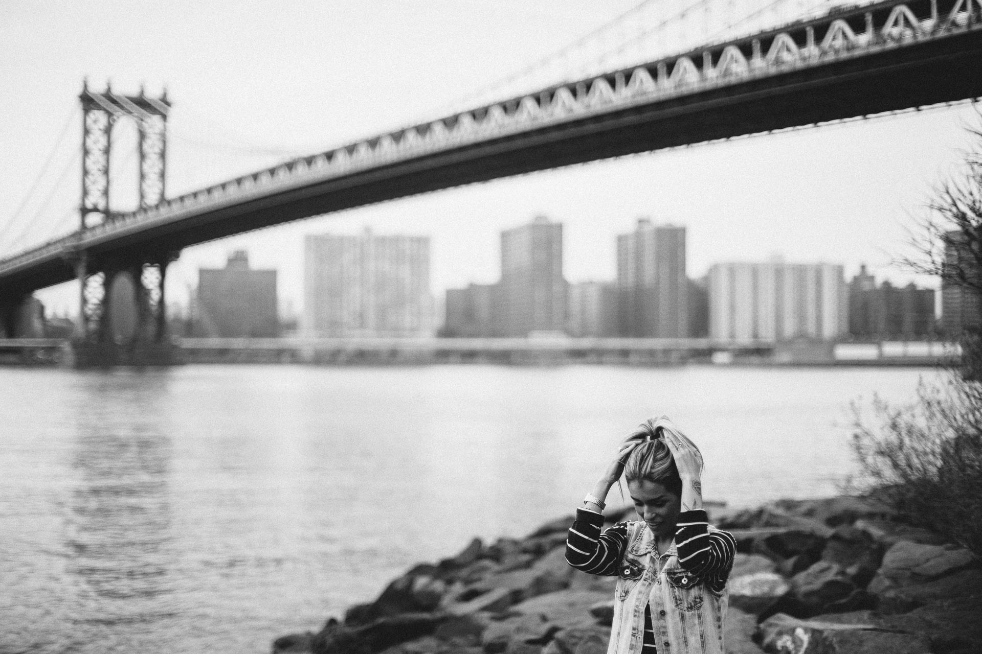 Kiko & Fefe Engagement Session in Dumbo, Brooklyn . New York - Jean-Laurent Gaudy