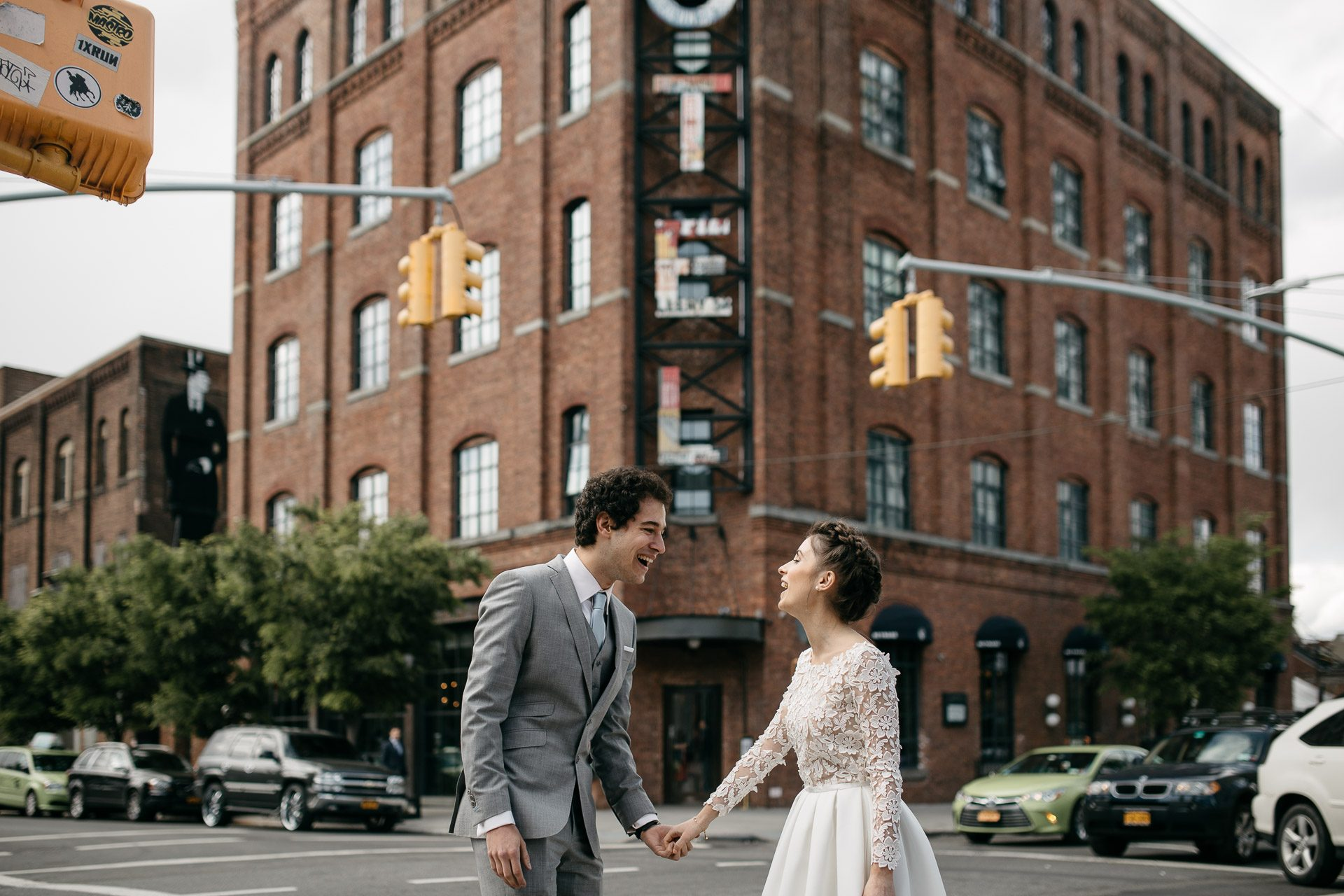 Elodie & Paul's Intimate wedding at The Wythe Hotel . Brooklyn, New York