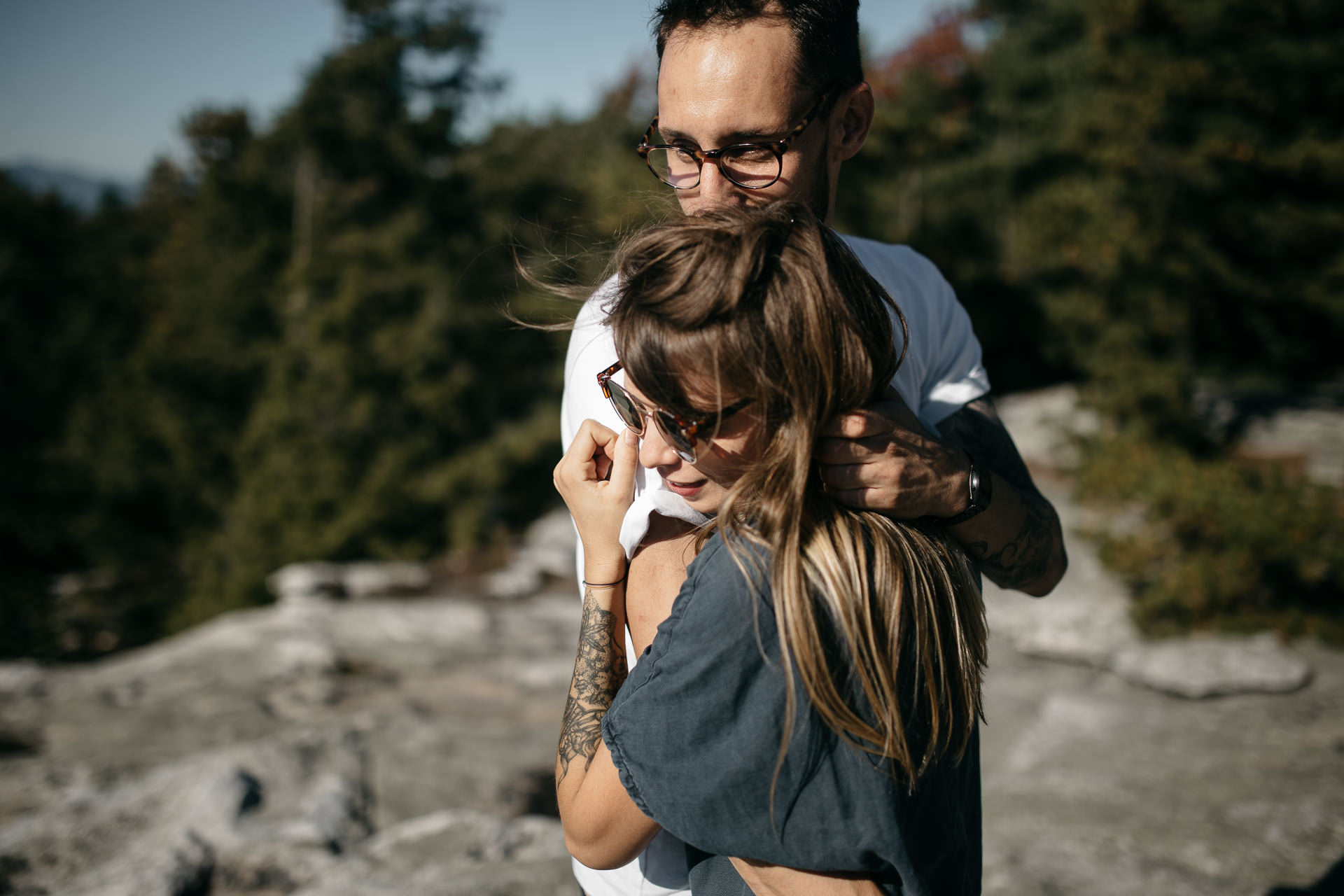 Fanny & Fabien Minnewaska Engagement in the Catskills by Jean-Laurent Gaudy Photography