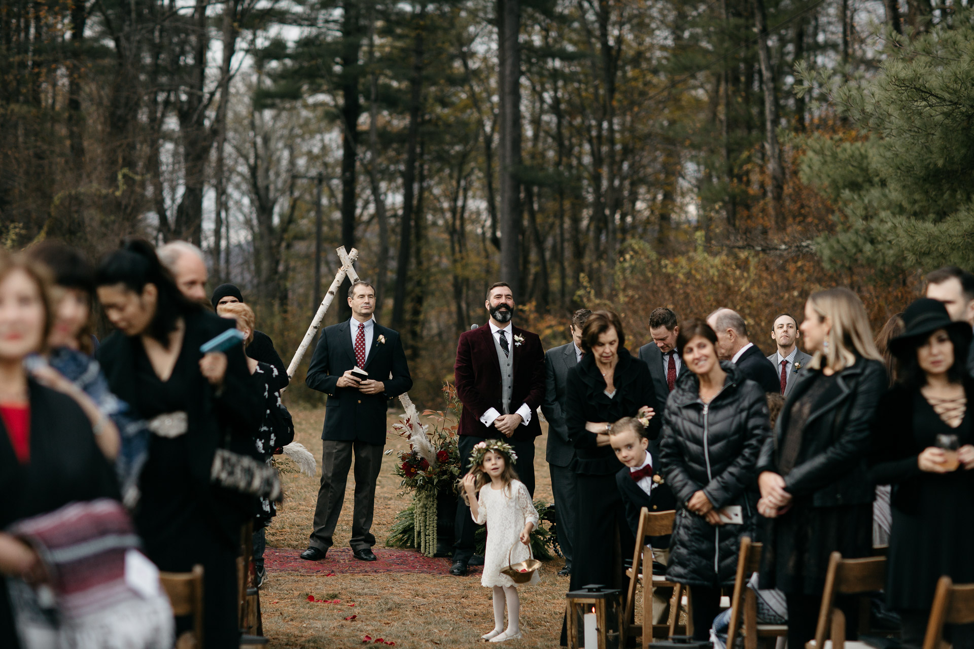 Robyn & Jim Catskills Fall Wedding at Foxfire Mountain House by Jean-Laurent Gaudy Photography-2