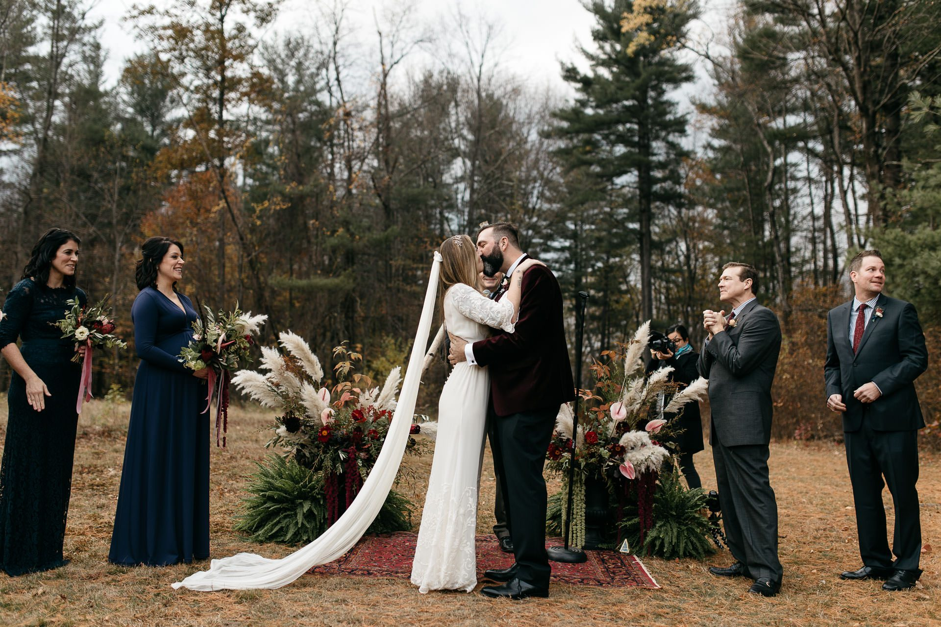 Robyn & Slim's Fall wedding at Foxfire Mountain House . Mount Tremper - Catskills, NY