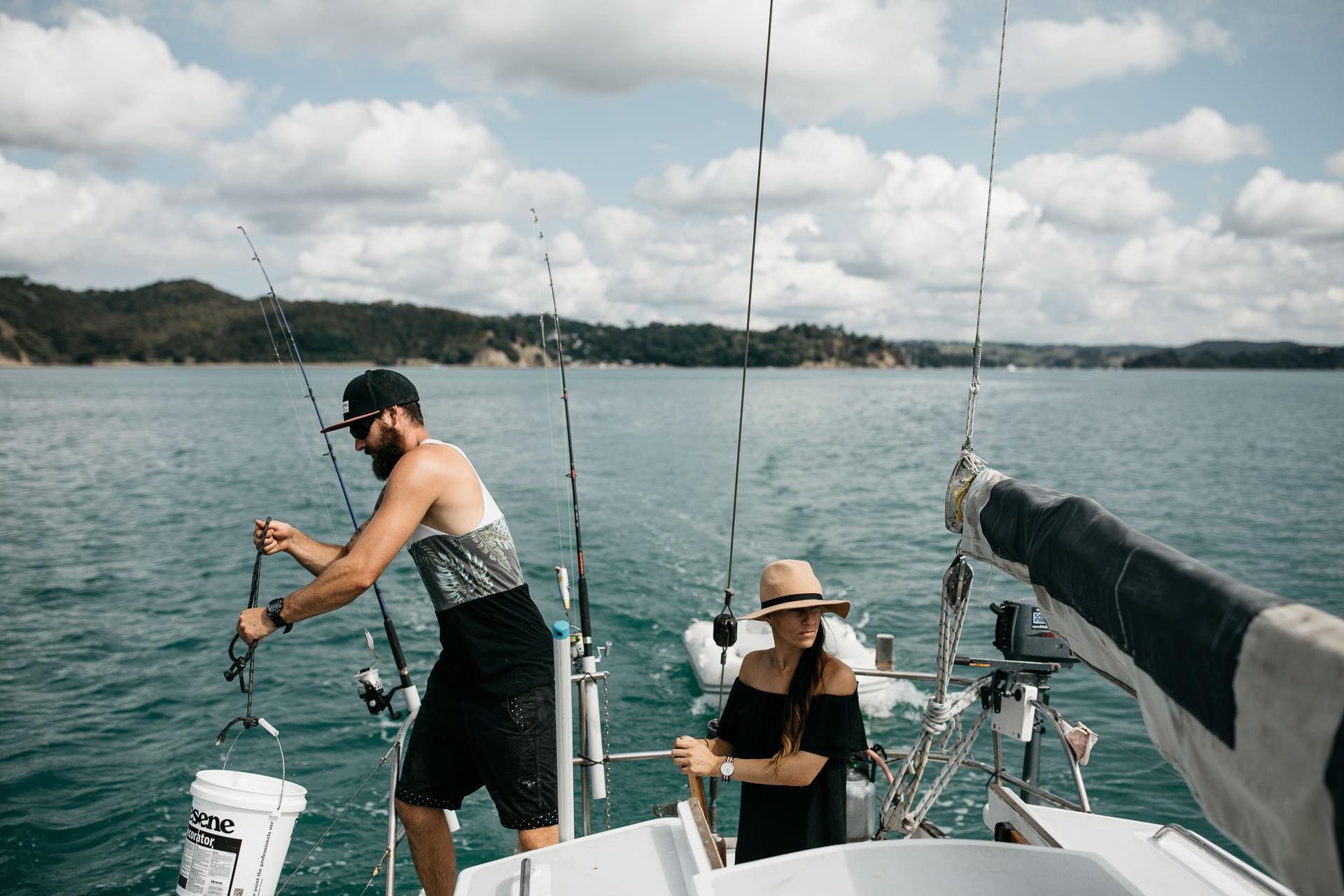 Kira and Fletch Love Session on Kawau Island New Zealand by Jean-Laurent Gaudy