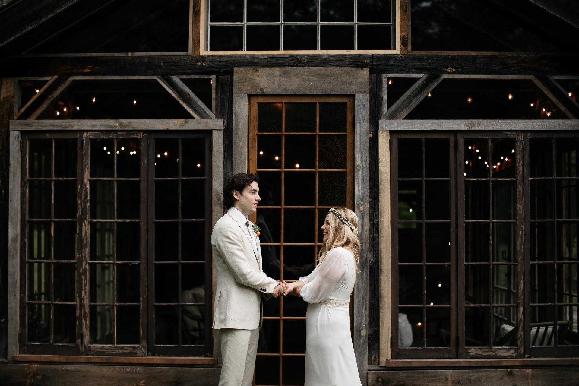 Boho Catskills Wedding at Foxfire Mountain House, NY by Jean-Laurent Gaudy Photography