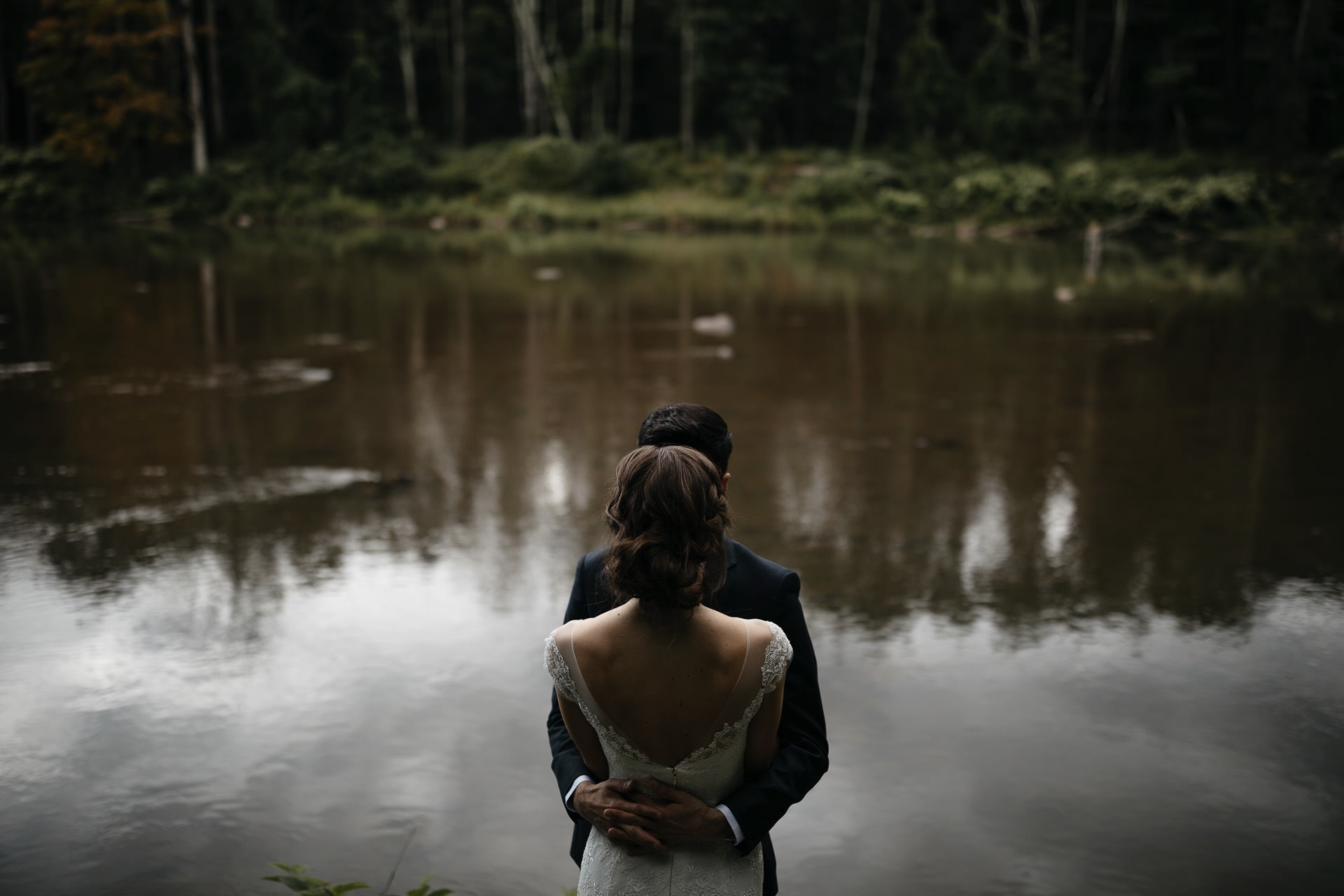 Isabel & Robbie Romantic Catskills Wedding in mount Tremper by Jean-Laurent Gaudy