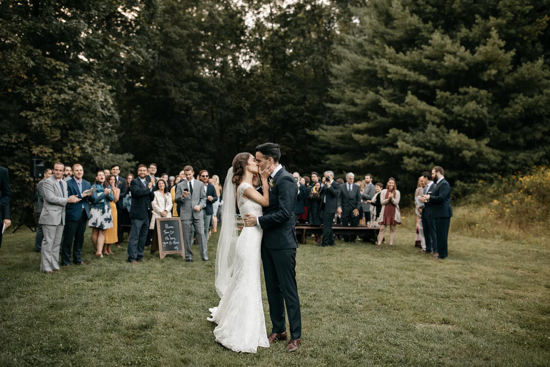 Isabel & Robbie Romantic Wedding in The Catskills . Mount Tremper Arts Center, NY