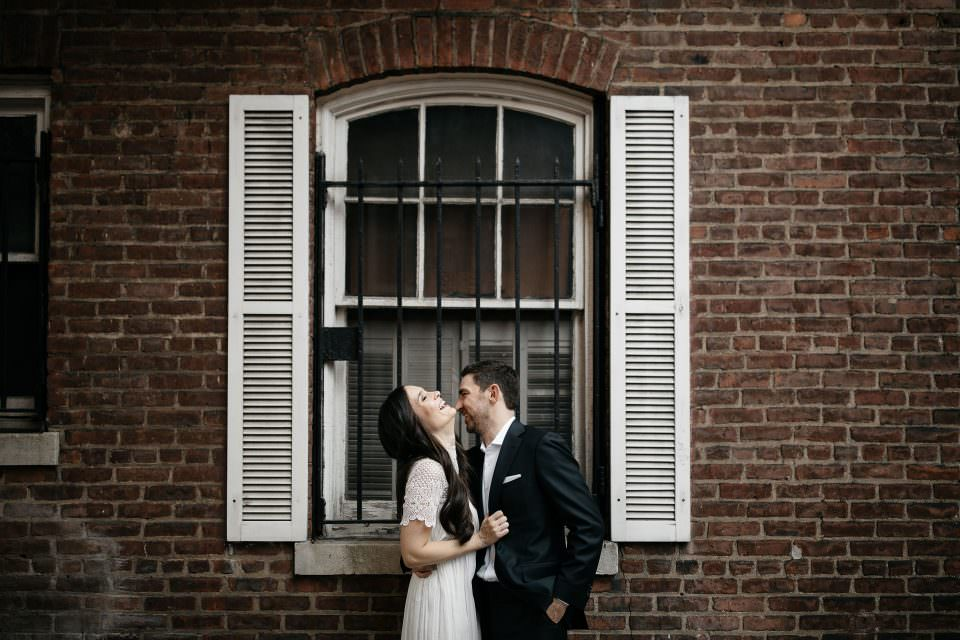 Emmy & Jesse Intimate Elopement in West Village . West Village, NYC