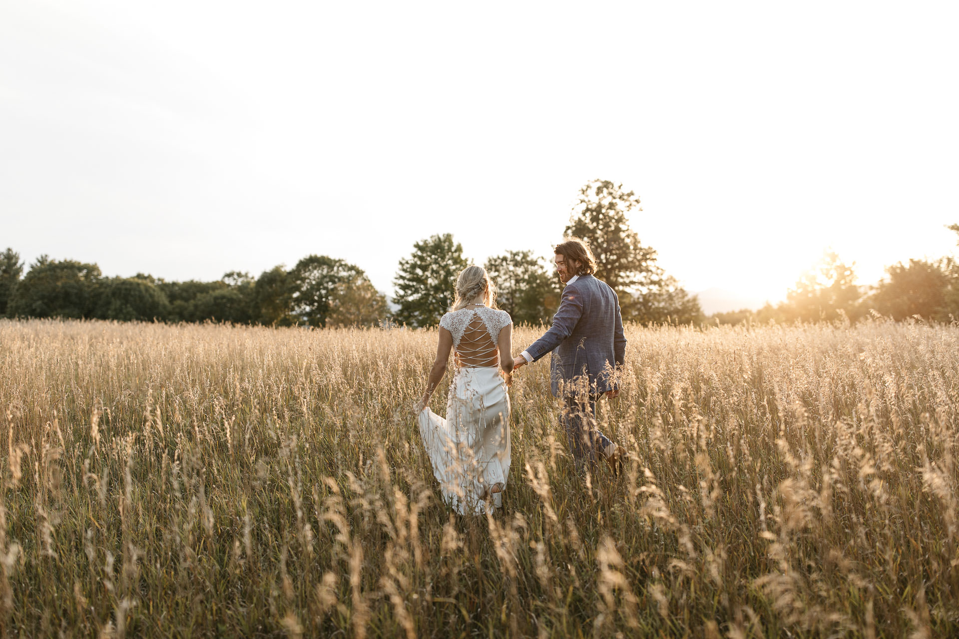 Boho Intimate Wedding in Maine By Jean-Laurent Gaudy Photography
