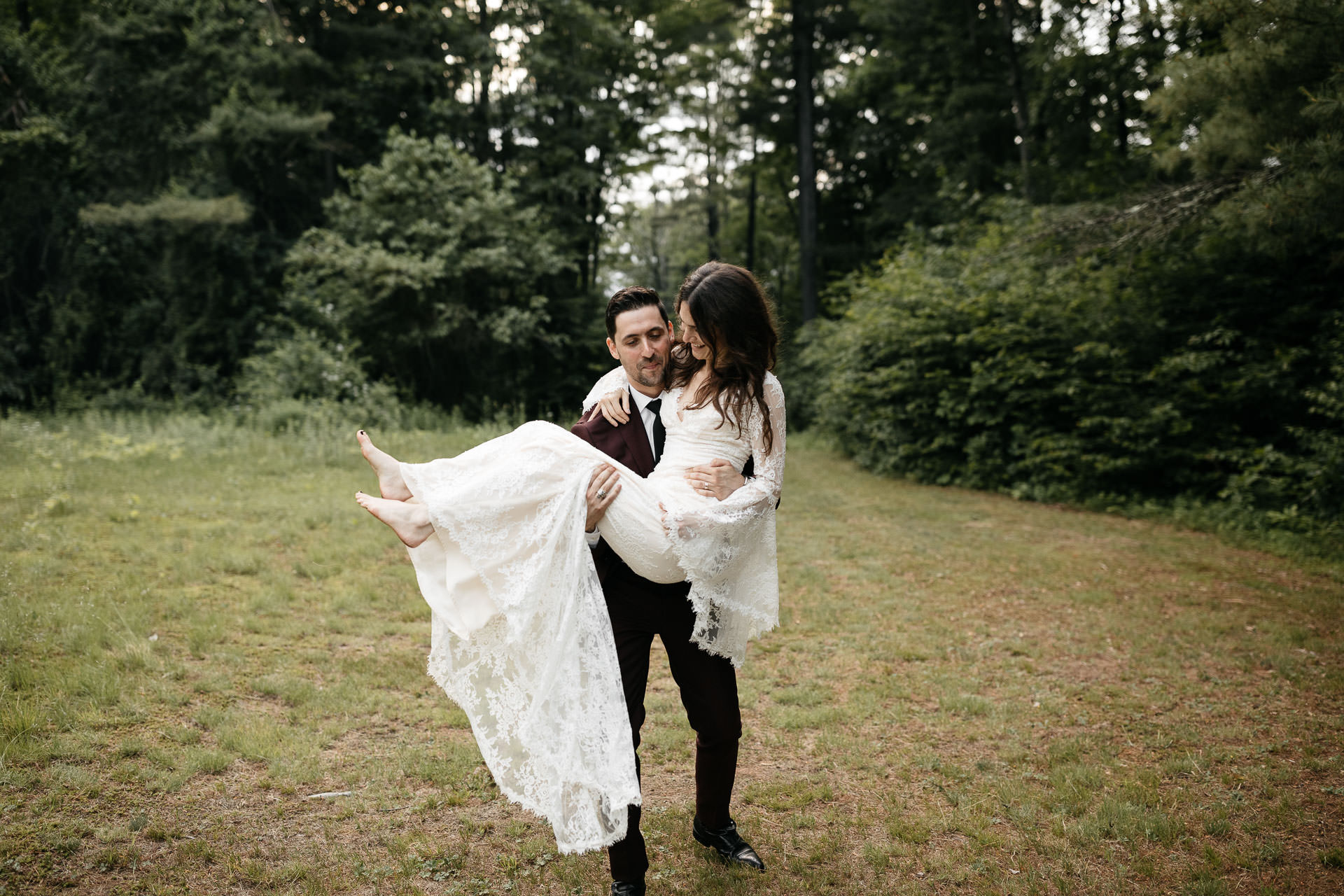 Rachel & David Boho Catskills wedding  at Foxfire Moutain House by Jean-Laurent Gaudy