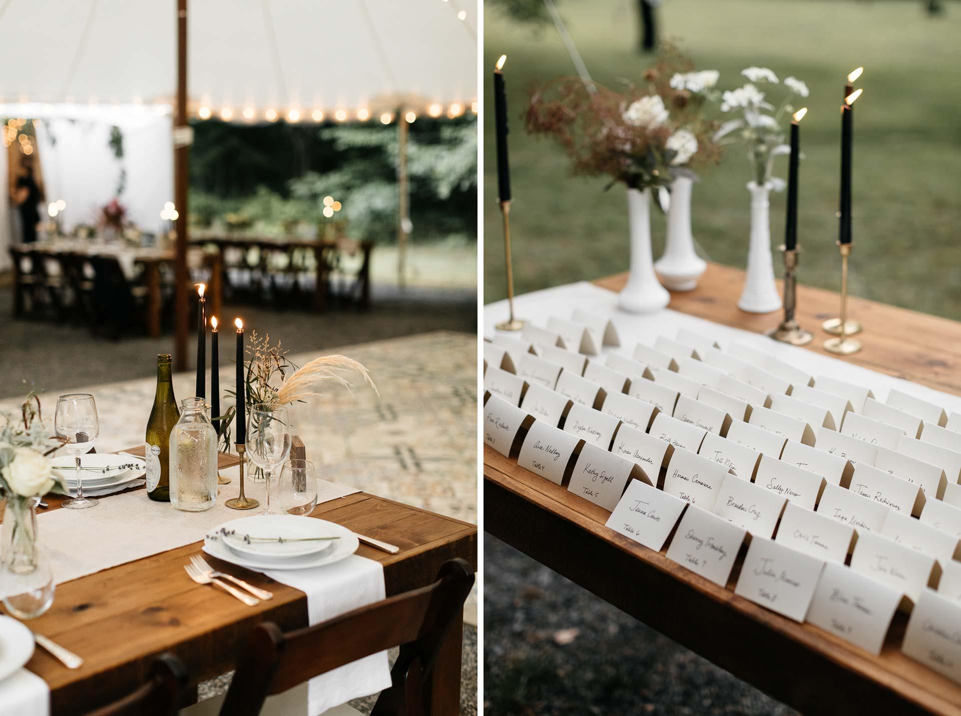 Rachel & David Boho Catskills wedding  at Foxfire Moutain House by Jean-Laurent Gaudy
