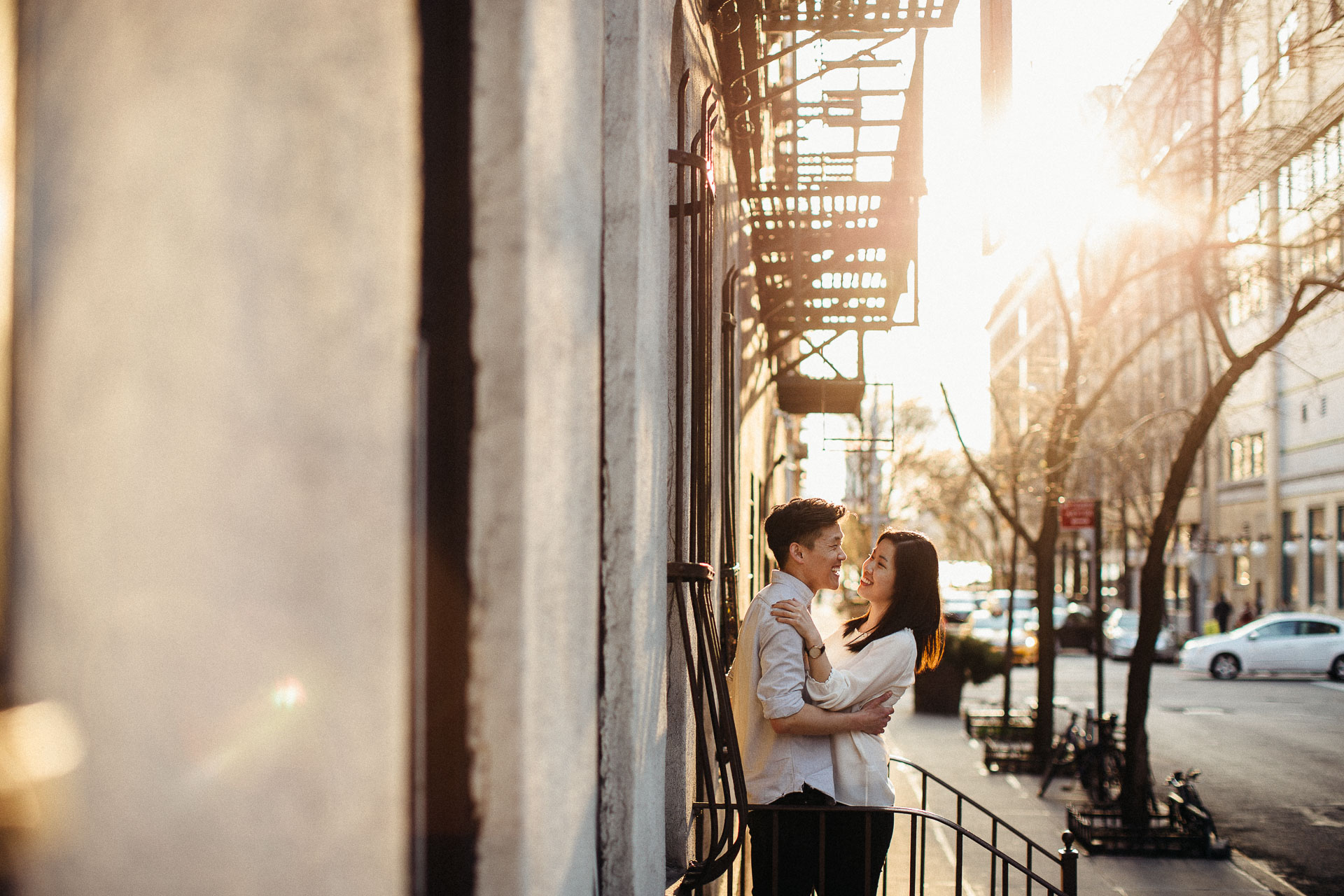 Jean & Mike Engagement Session in West Village, New York . Jean-Laurent Gaudy Photography