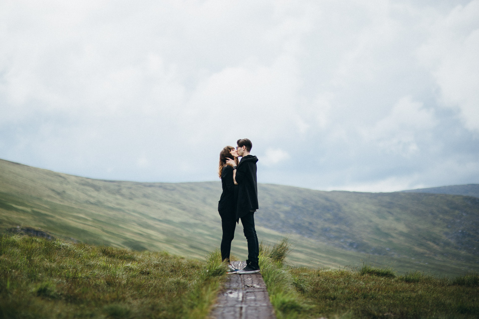 Wicklow Mountains Engagement Session in Ireland by Jean-Laurent Gaudy Photography