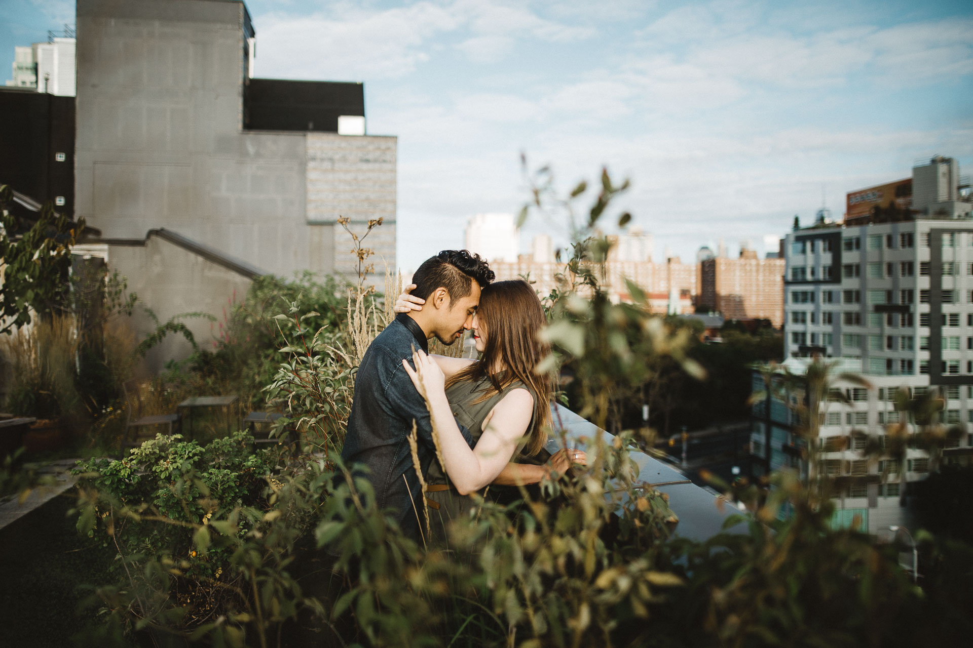 Rooftop Engagement in Brooklyn by Jean-Laurent Gaudy Photography