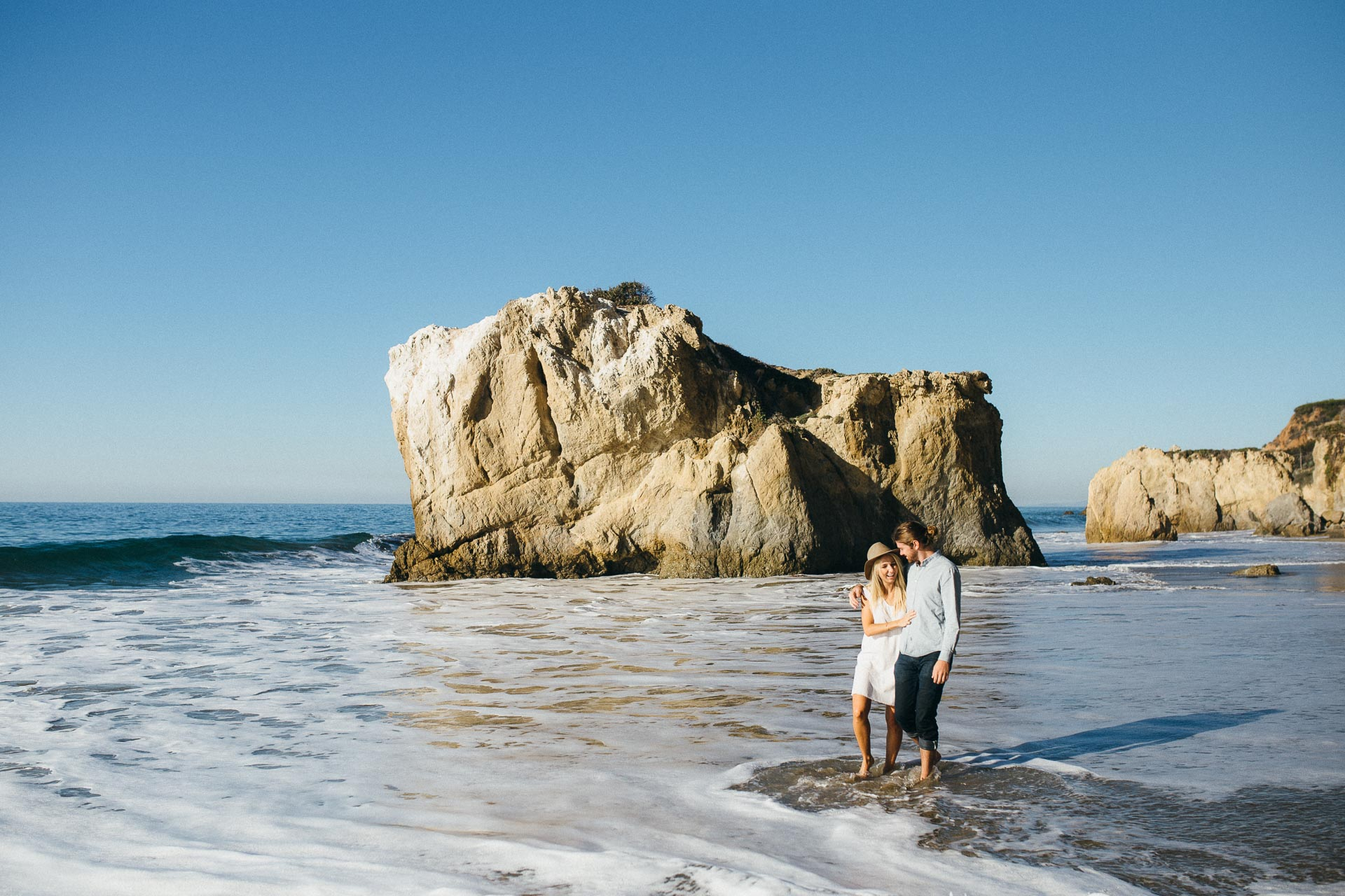 El Matador Beach Engagement in California by Jean-Laurent Gaudy Photography