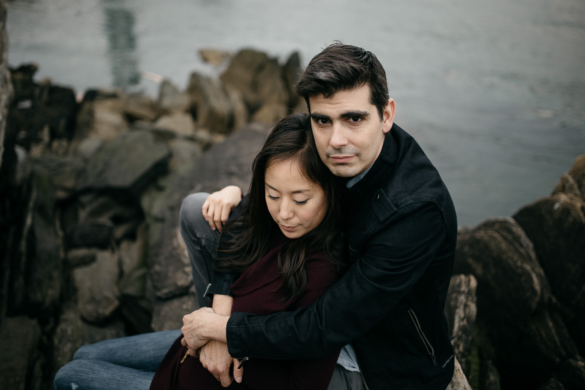 Astoria Engagement in New York by Jean-Laurent Gaudy Photography