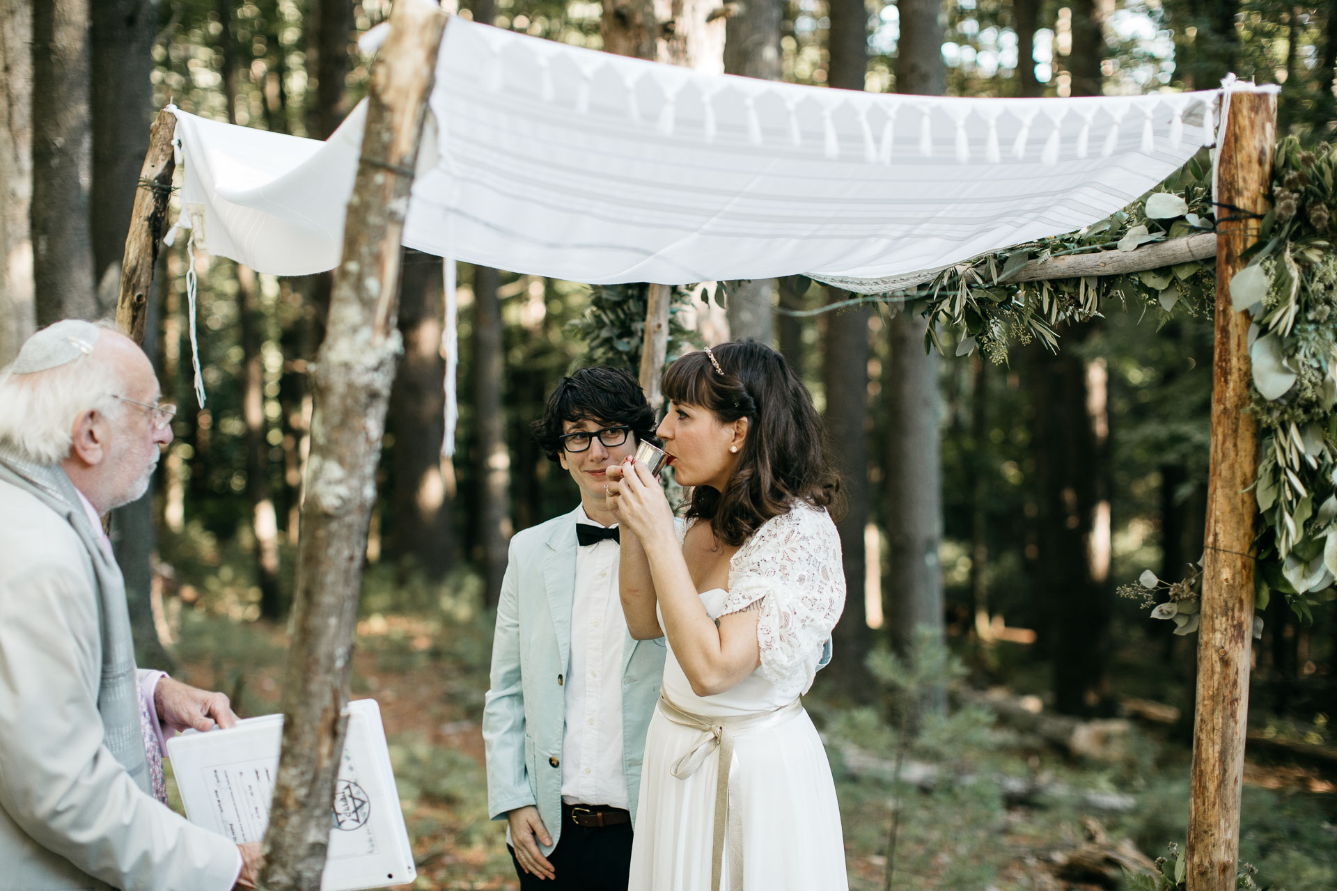 Same Sex Intimate Elopement In the Catskills Mountains by Jean-Laurent Gaudy Photography
