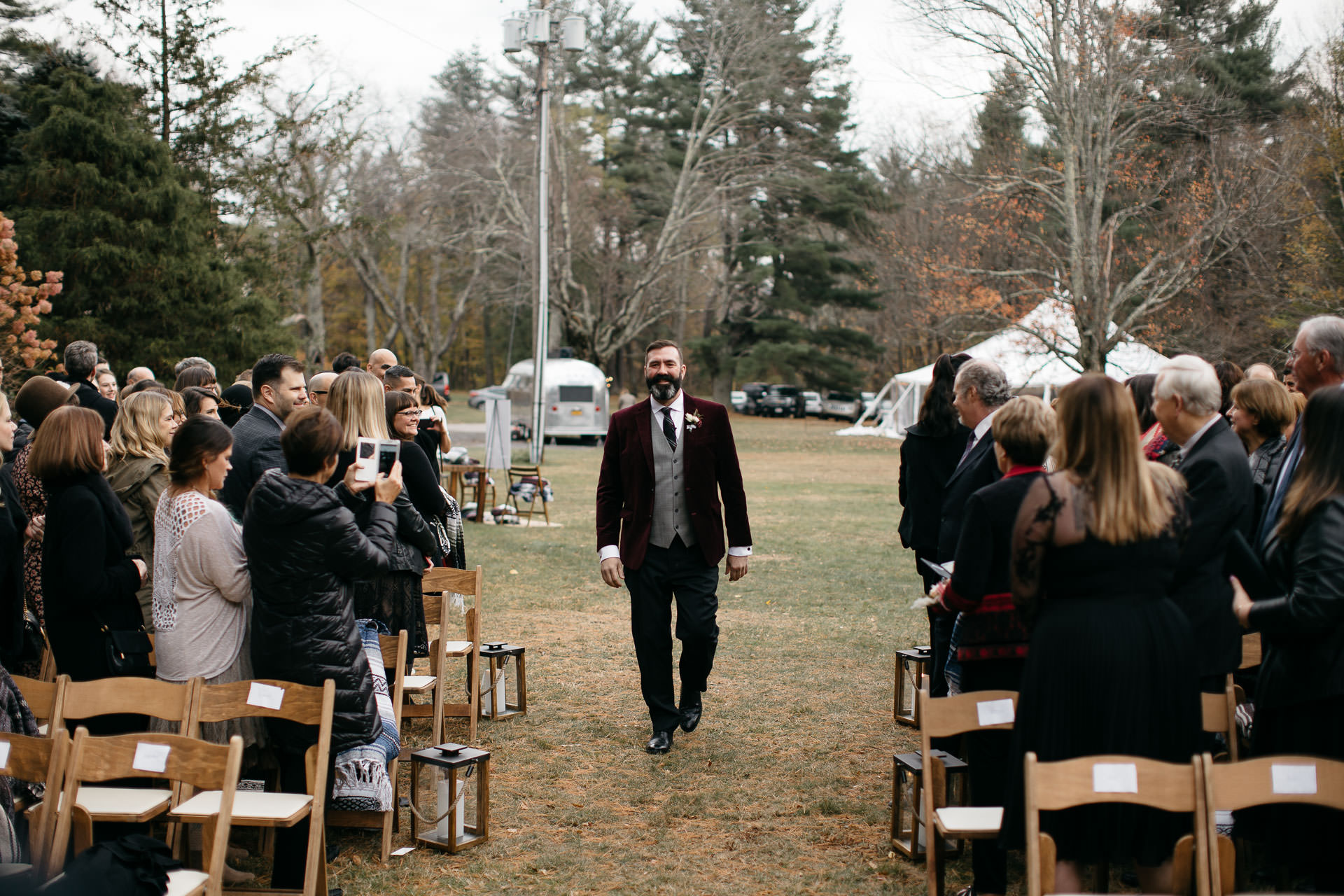 Robyn & Jim Catskills Fall Wedding at Foxfire Mountain House by Jean-Laurent Gaudy Photography