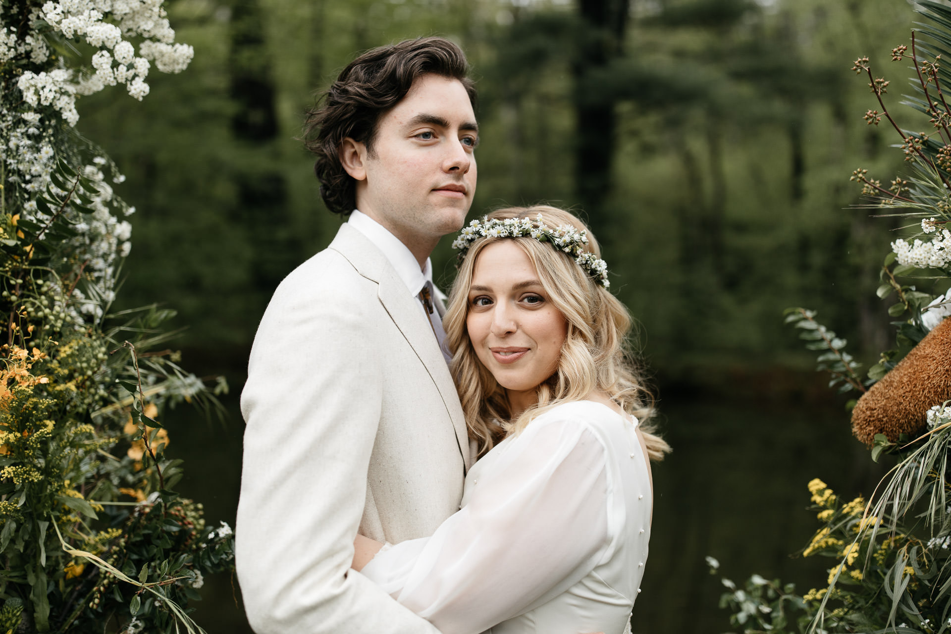 Mel & Ben's Boho Catskills Wedding . Foxfire Mountain House, NY