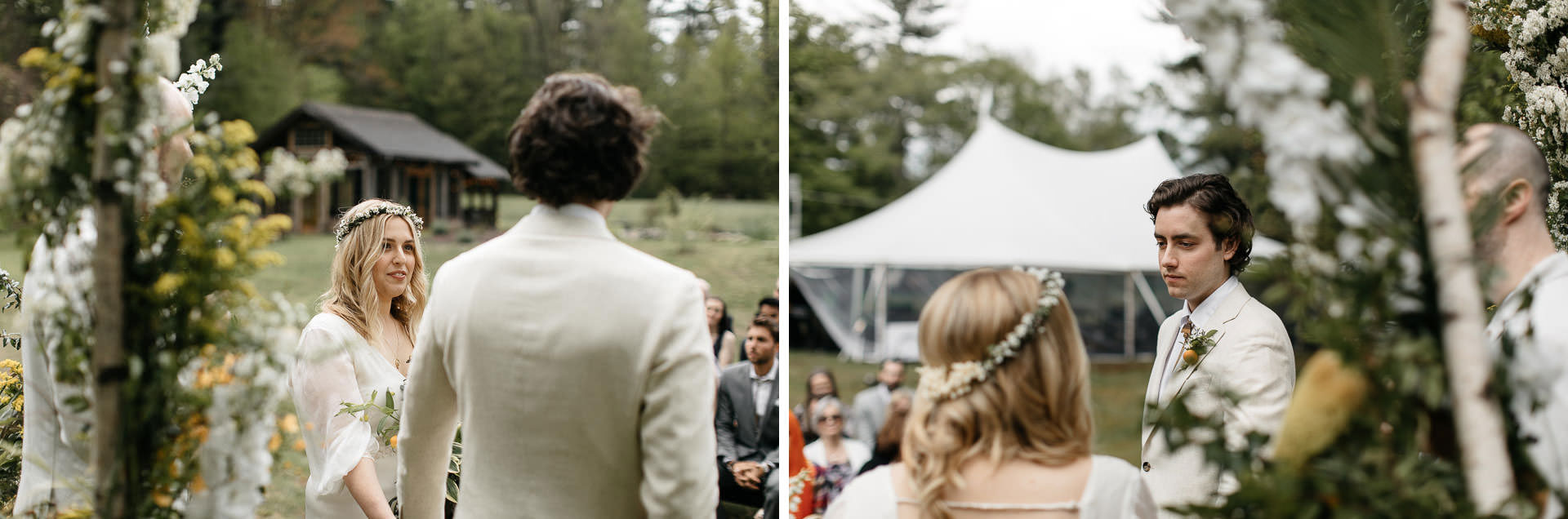 Boho Catskills Wedding at Foxfire Mountain House, NY by Jean-Laurent Gaudy Photography