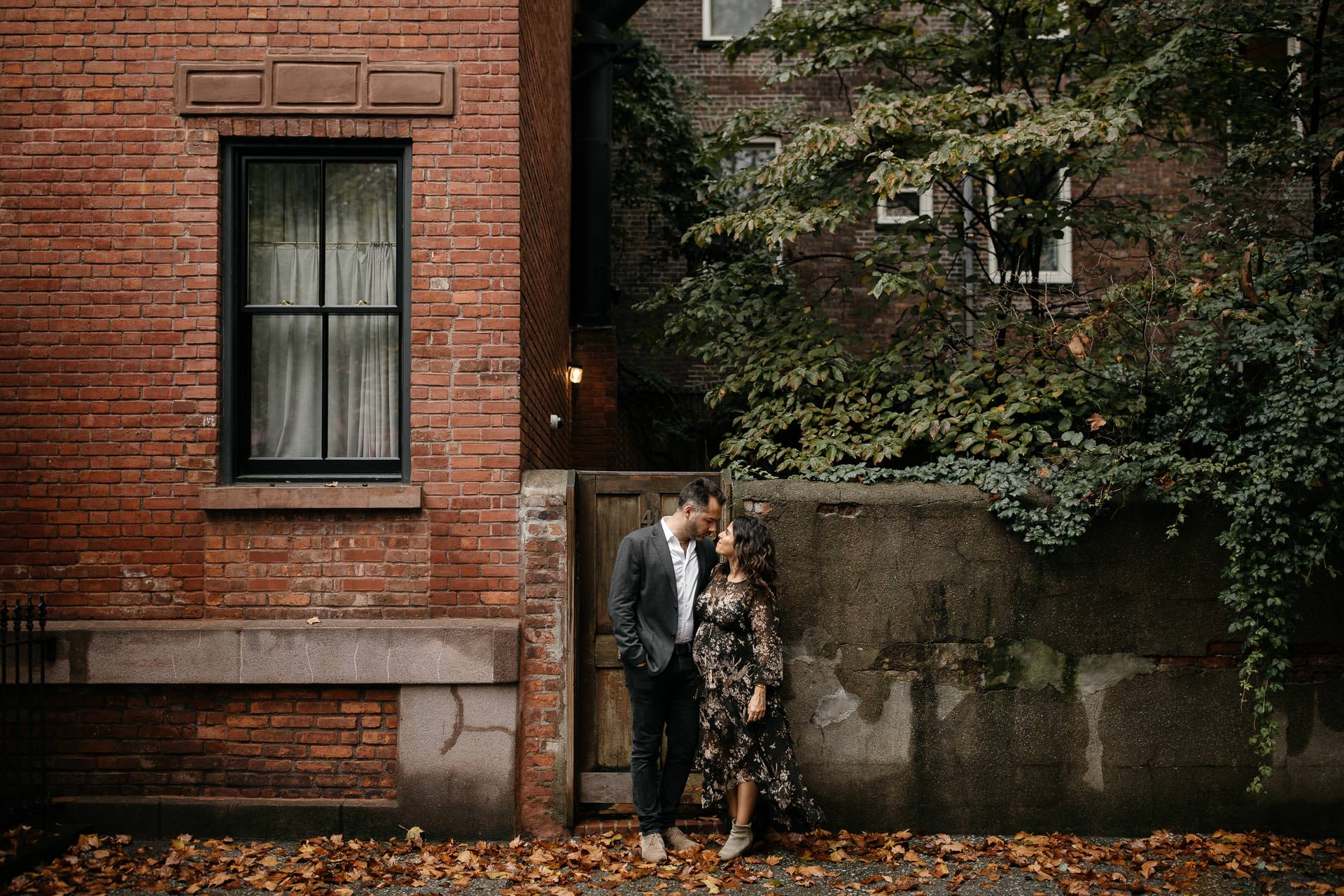 Rime Arodaki & Greg Finck Fall Engagement in West Village, New York City by Jean-Laurent Gaudy