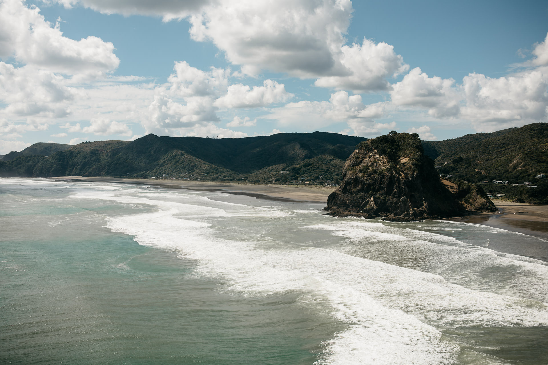 Amy & Daniel Piha Beach Engagement New Zealand by Jean-Laurent Gaudy