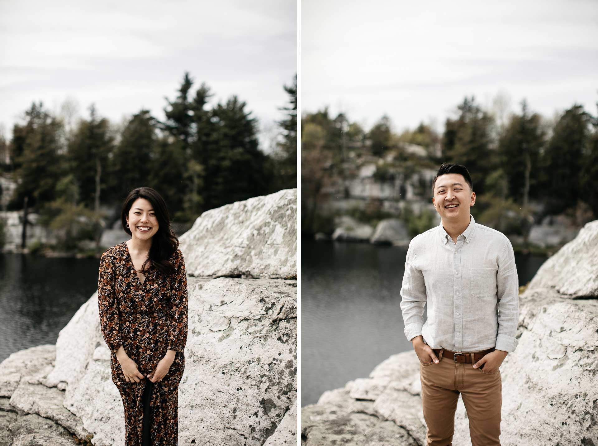 Jinie & Peter's Engagement in Catskills Minnewaska State Park, New York, by Jean-Laurent Gaudy