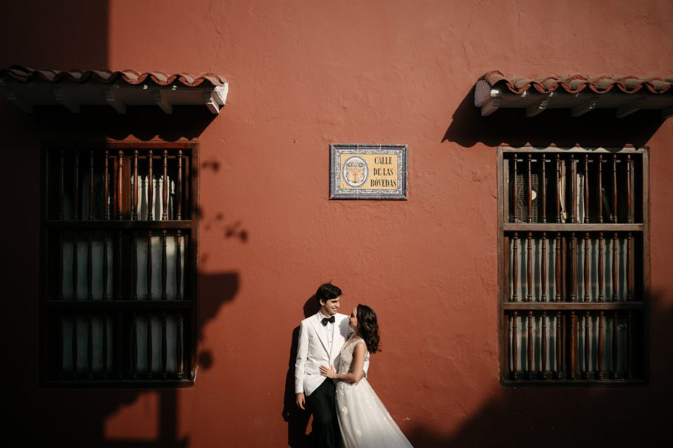 Alexandra & Felipe's Wedding . Casa 1537 in Cartagena, Colombia